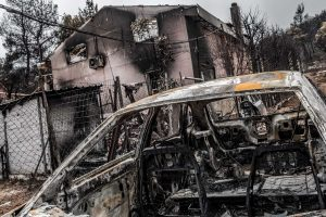 Mati, Athens, Greece, | November 28, 2018 | Photo #6 | The forest fires completely destroyed many homes and cars. Photo: Joris van Gennip