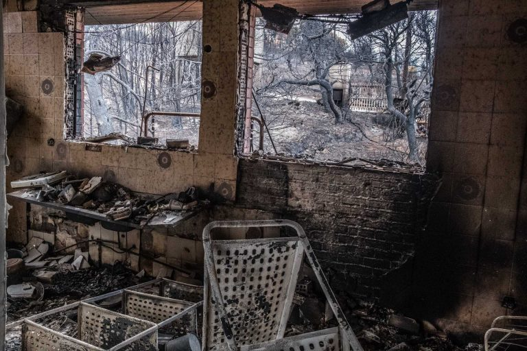 Mati, Athens, Greece, | November 29, 2018 | Photo #8 | The interior of a destroyed home in Mati. Photo: Joris van Gennip