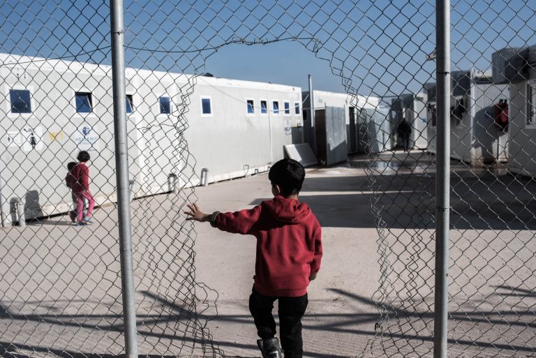 The inhabitants of the center have made holes in the fences in order to provide more freedom of movement for themselves. The center is surrounded by land owned by farmers. Many of the refugees/migrants use this land for a sense of space and freedom and to use it as a toilet.